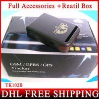 Cheap 10pcs lot GPS Tracker TK-102B Mini GPS Tracker TK102B With Memory Slot And Inbuilt Shock Sensor Sleep Function + Retail Box
