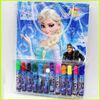 Wholesale Frozen Baby Suits Watercolor Pen P Colouring pictures P Color Stickers Kids Holiday Gift Children Puzzle Painting GZ GD2