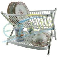 Wholesale Multi function folding bowl rack kitchen plate rack dish tableware water drain holder rack kitchen space saving