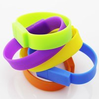 Wholesale and month warranty Rubber Bracelet Wristband USB Flash Drives