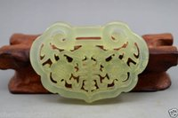 Wholesale New Fine Chinese old Crafted Sided hollow natural jade statue pendant
