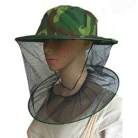 Wholesale Camouflage Stocking Hats - Camouflage Topi Field Jungle Mesh Face Mask Cap Anti-Mosquito Bee Bug Insect Fishing Hat