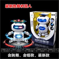 Wholesale Dancing Robert Electronic Toys With Music And Lightening Best Gift For Kids Model toy space robot dance creative