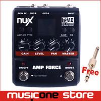 amp modeling - NUX AMP Force Modeling Amp Simulator Electric Guitar Effect Pedal w3 band EQ amplifier MU0152