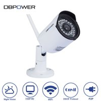 Wholesale 720P Mini Wireless Outdoor Security Bullet IP Camera Built in G Memory LEDs M Night Vision Motion Detection ONVIF2