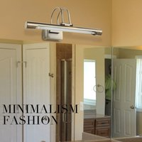 art deco bath - New Stainless Steel W quot Length Mirror Bathroom Light Wall Lamp Sconces Washing Lighting LED Bath Lamps