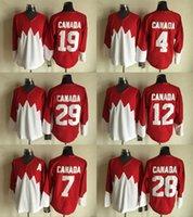 team canada jerseys - 1972 New Canada Team Hockey Summit Series CCM Bobby Orr Ken Dryden Jersey Captain Red White Stitched Jerseys