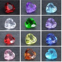 Wholesale 20 fit Floating lockets mm heart crystal stones floating lockets charm pink Z1086