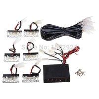 12V 18 flash LED de luz blanca de automóviles de emergencia 6 bares de advertencia ENVÍO GRATIS estroboscópico de la lámpara auto