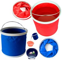 Wholesale 9L folding bucket car bucket multipurpose folding telescopic bucket car wash bucket fishing bucket
