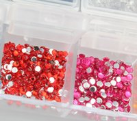 Wholesale Round Nail Art Rhinestones Glitter Decoration Mixed Colors in Case BS88