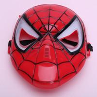 Lueur jouets pour les garçons Avis-Cosplay Lumineux Spiderman l'Homme Araignée Masque Avec LED Bleu des Yeux maquillage Jouet Pour les Enfants Garçons