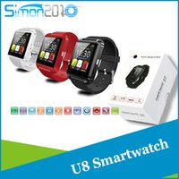 Wholesale Smartwatch phone U8 Smart Watch U Watch High Quality Smartwatch with Phonebook Call MP3 Alarm Samsung S6 S5 NOTE Andriod Cell Phone