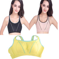active eyes - Women Yoga Bra No rims Sports Pad Sport Bra Couble breasted Adjustable Sport Bras Size Fitness Running Bra