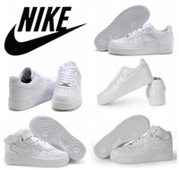 Wholesale Nike Air Force Men Women Sports Skateboarding Shoes Cheap White Nike Air Force one Shoes size Original quality