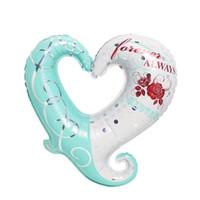 aluminium flowers - Love Flower Hollow Heart Shape Foil Balloons Wedding Birthday Party Celebration Decoration Balloon Valentine s day Gift