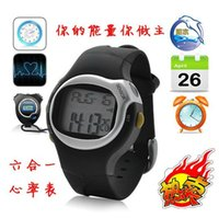 calorie counter watch - Wholesales Calorie Counter Pulse Heart Rate Monitor Stop Watch Waterproof Alarm Colors Top Quality