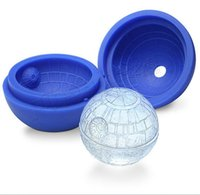 Ice Tray Cube ball mold - durable star type mold silicone Ice tray cube ice cream round ball spherical mould for bar party freezer
