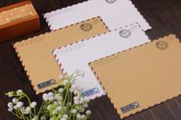 airmail envelopes - Fashion Kraft paper Vintage European Airmail envelope B6 Standard size CM Diy Jewelry gift
