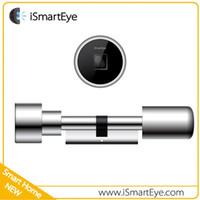 Wholesale L3 digital Fingerprint door Lock Cylinder Fingerprint Remoter and Mobile Door Open mm mm