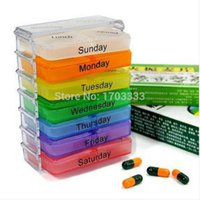 Wholesale 100pcs Medicine Weekly Storage Pill Day Tablet Sorter Box Container Case Organizer HG31