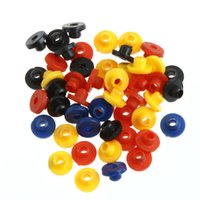 armature supplies - Rubber Grommets Nipples For Tattoo Machine Needles Armature Bar Supply Tattoo accesories Black Colorful New Arrival