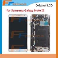 Cheap Original LCD Display & Touch Screen Digitizer Assembly + Frame for Samsung Galaxy Note 3 III N900 N900R4 N900T N900P N900V N9006 N900A N9005