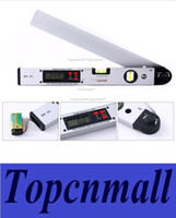 Wholesale 16 Laser Ruler Spirit Level Aluminum Angle Slope Finder Vertical Horizontal Digital Display H1658