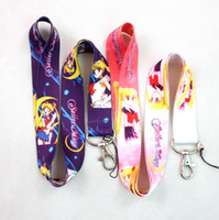 beautiful lanyards - Multicolor Sailor Moon Beautiful girl Phone lanyard Keychain straps charms Gifts