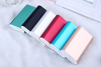 Wholesale MI colors mAh Ultra thin polymer energy power bank power station with the retail packing charging cable USB cable