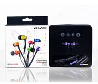 Wholesale Original awei m earphones in ear headphones stereo sound mobile phone computer earphones heatshrinked