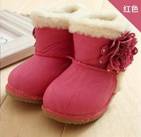 kids boots - Hot girls baby cotton shoes Winter boots infant Snow boots Flowers cotton boots kids boots girls leather kid boots pairs