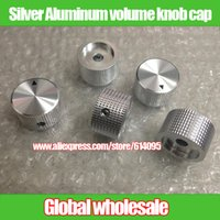 adjustment knob - Silver Aluminum volume knob cap with the pointer hole MM MM MM adjustment potentiometer knob cap