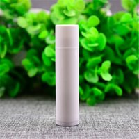 Wholesale Lily g Empty White Lipstick Tube Frost Round PP Lip Balm Container Small Sample Cosmetic Lip Gloss Sub bottling