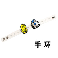 Wholesale 2015 New style Star Wars silicone bracelet Star War wristbands Toy doll bracelets Adjustable wrist band bracelet Children