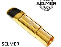 Wholesale SELMER tenor B flat Bb SAX Metal Mouthpiece Size for Saxophone Beginner GOLD plated Saxe