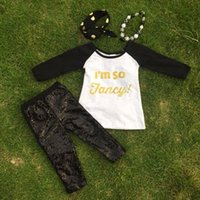 new design pants - 2 t new design gold print boutique suit girls pant clothes long sleeves kids outfits super cute with necklace and headband