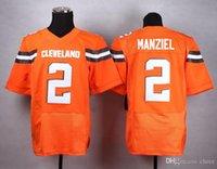 Wholesale NEW ARRIVAL NEW BROWNS JERSEY Johnny Manziel Men s Orange Elite Football Jersey