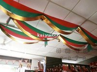 flags and banners - Christmas Decoration supplies wave flag with bell christmas banner red green and gold m length g