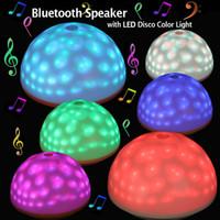 Wholesale Colorful Fashion Mushroom Bluetooth Speaker LED Disco Light Desk Decoration Lamp For Party Disco Mood Lighting