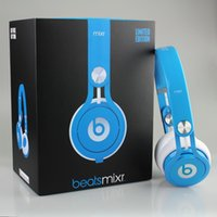 Wholesale Amazing Sound Used Beats mixr Headphones On ear Noise Cancel Headphones Headset Refurbished with seal retail box