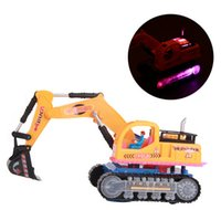 Wholesale Electric Excavator Movable Shovel Digger Construction Truck Music Lights Kids Baby Toy Vehicles