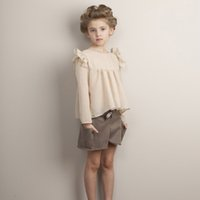 big clothes brands - Big Kids Girls Wool Blends Bow Short Pants Baby Girl Fall Winter Loose Pant Girl Princess Shorts childrens clothing