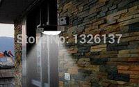 Wholesale New Solar Powered LED Outdoor Lighing Lamp Wall Light Ray Sound Sensor Energy Saving Garden LED