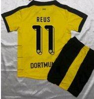 Niños Borrusia Dortmund Marco Reus HUMMERLS KAGAWA Gundogan AUBAMEYANG Tailandia Survetement Calidad Fútbol Camisa Kits Soccer Jersey