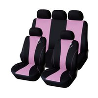 Wholesale AUTOYOUTH Pink Full Car Seat Cover Set Universal Fit Most Car Covers Interior Accessories Seat Covers Embroidery Style order lt no track
