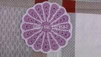 Wholesale Hand made Lace Crochet Cup Mat Cotton Ecru Doily new year Cup Pad Coaster Embroidery Wedding Decoration cm g
