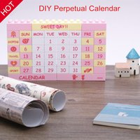 Wholesale 2015 Creative Gifts High quality DIY Puzzle Calendar DIY Perpetual Calendar Fun and Creative colors good choice for you