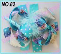 Wholesale fashion boutique funky fun hair bows B popular hair bows clips cartoon character clips