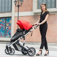 baby absorbers - Newborn Baby Strollers Tricycle High Landscape Baby Car Light Folding Baby By Two way Good Shock Absorbers Pram Pushchair